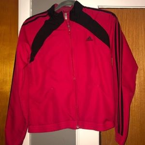 Red adidas light jacket